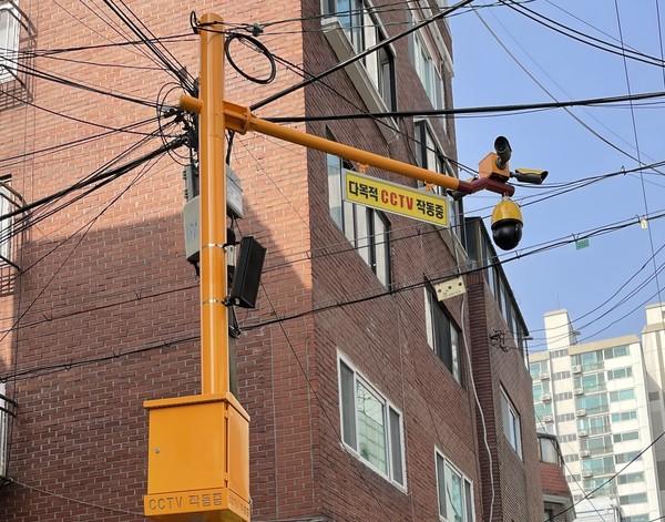 CCTV LED 안내판이 설치 완료된 모습./사진제공=영등포구